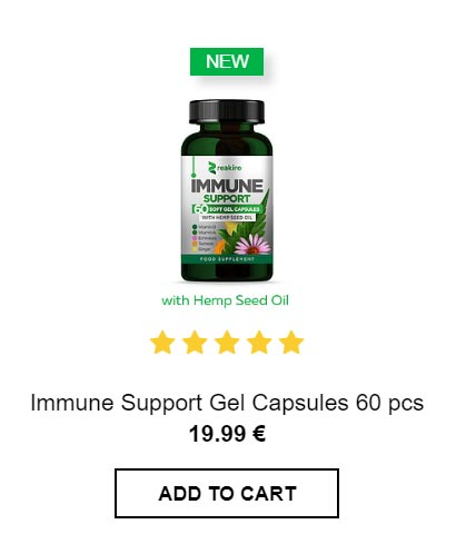Immune Support Capsules with hemp seed oil