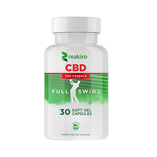 CBD Golf Pro Formula Gel Capsules 750 mg