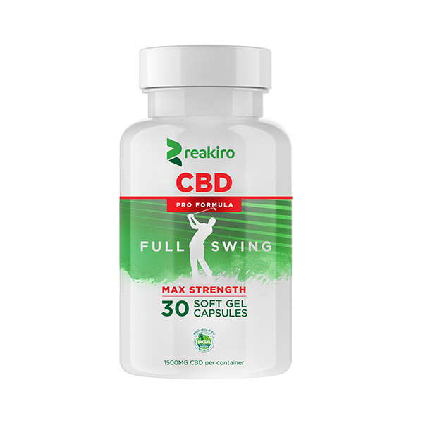 CBD Golf Pro Formula Gel Capsules 1500mg