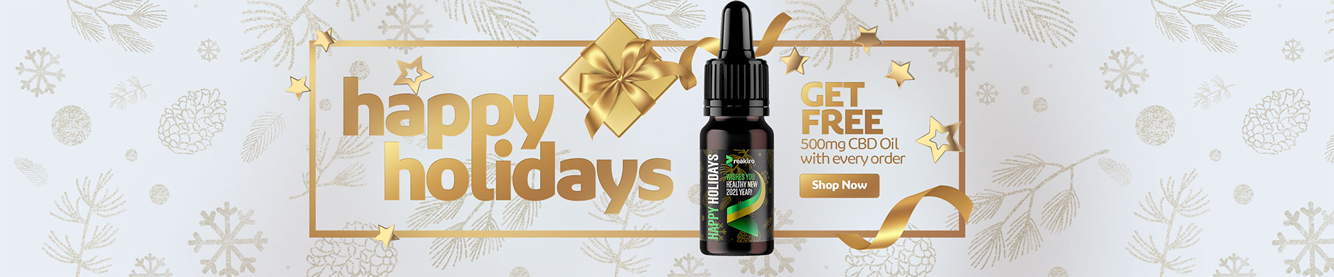 Get Free CBD Oil 500 mg with every order
